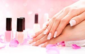 Manicure and Hands Spa. Beautiful Woman hands closeup. Manicured